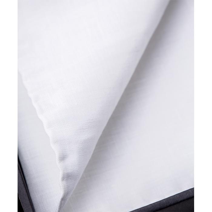 Lniana biała poszetka