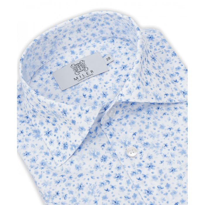 Męska koszula w niebieskie kwiaty
