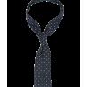 Granatowy krawat w zielone groszki...