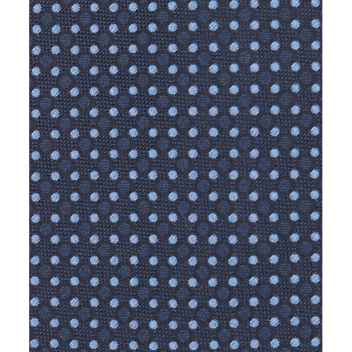 Granatowy krawat w błękitne groszki