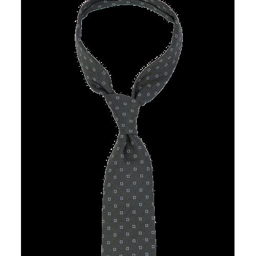Zielony krawat w kwadraty