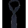 Granatowy krawat w błękitne grochy...