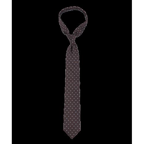 Bordowy krawat w błękitne kwiatki
