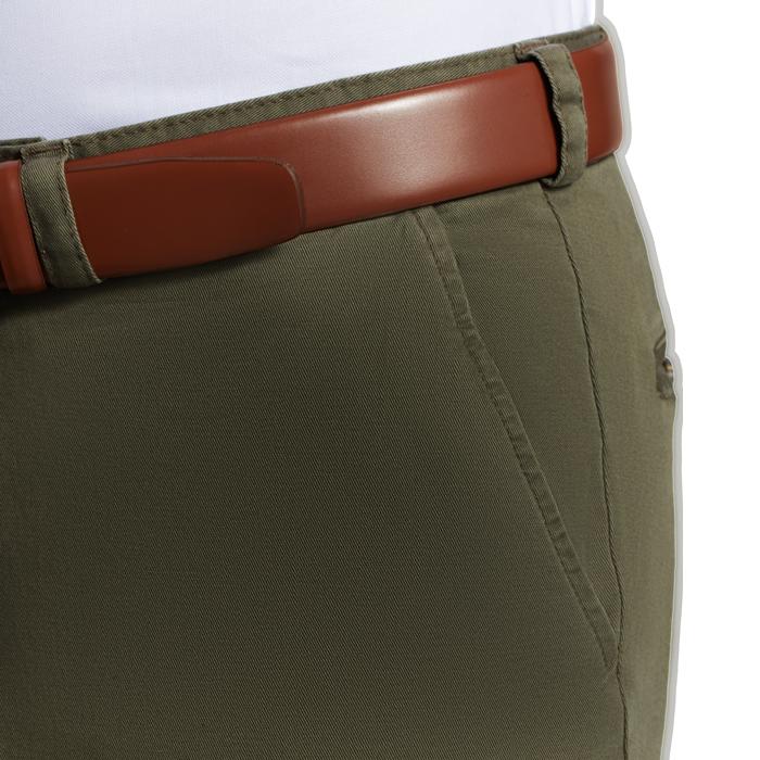 Oliwkowe spodnie chino