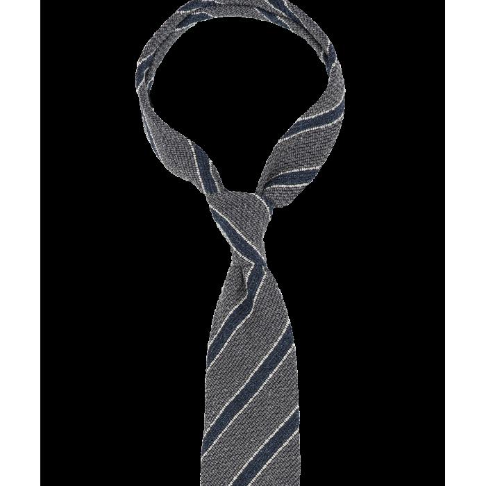 Szary krawat w paski