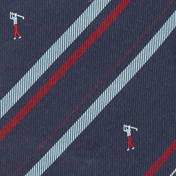 Granatowy krawat w golfistów