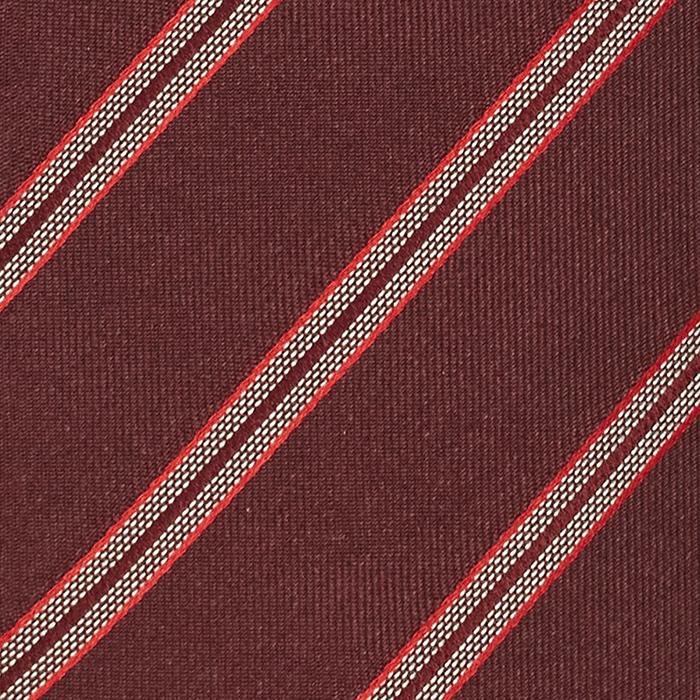 Bordowy krawat w paski