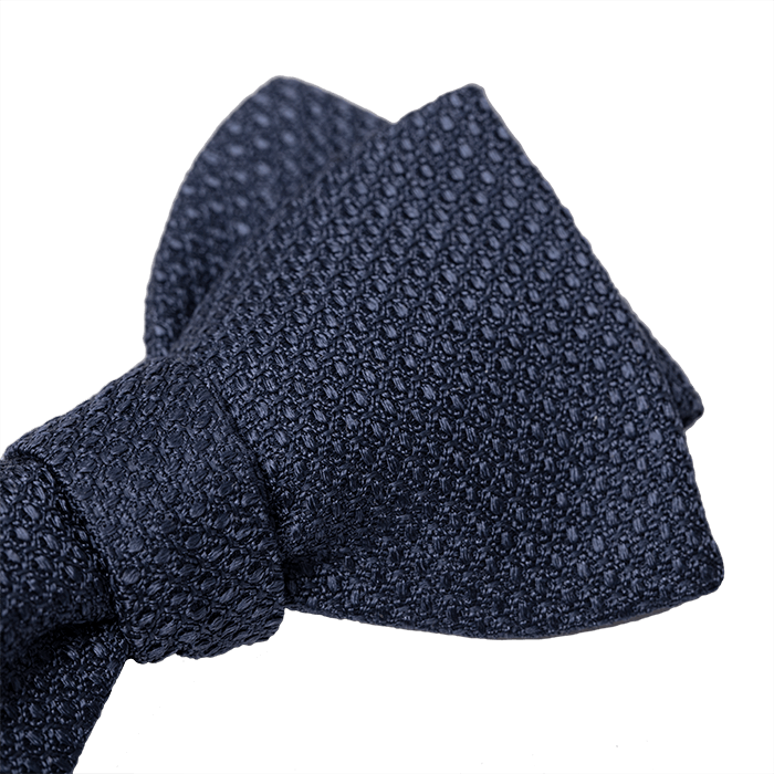 Jedwabna mucha we wzór jasnoniebieska