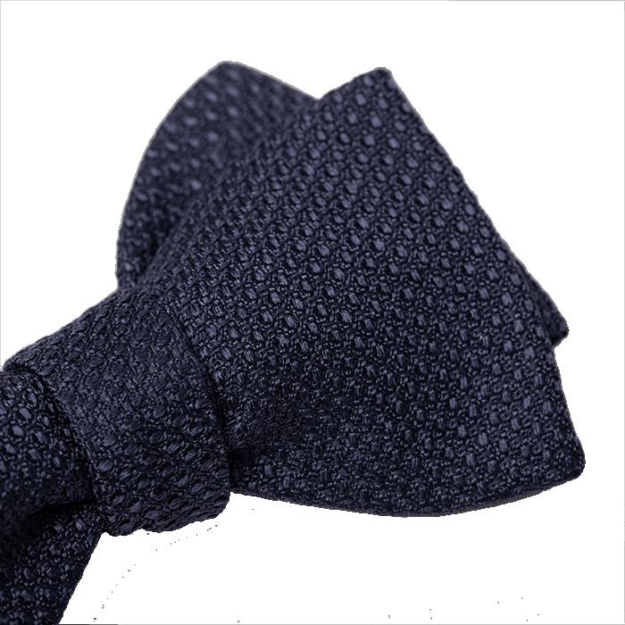 Jedwabna mucha we wzór ciemnoniebieska