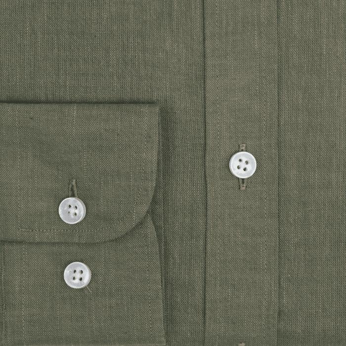 Zielona męska koszula button down