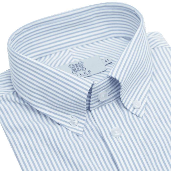 Koszula męska seersucker button down w prążek candy stripe