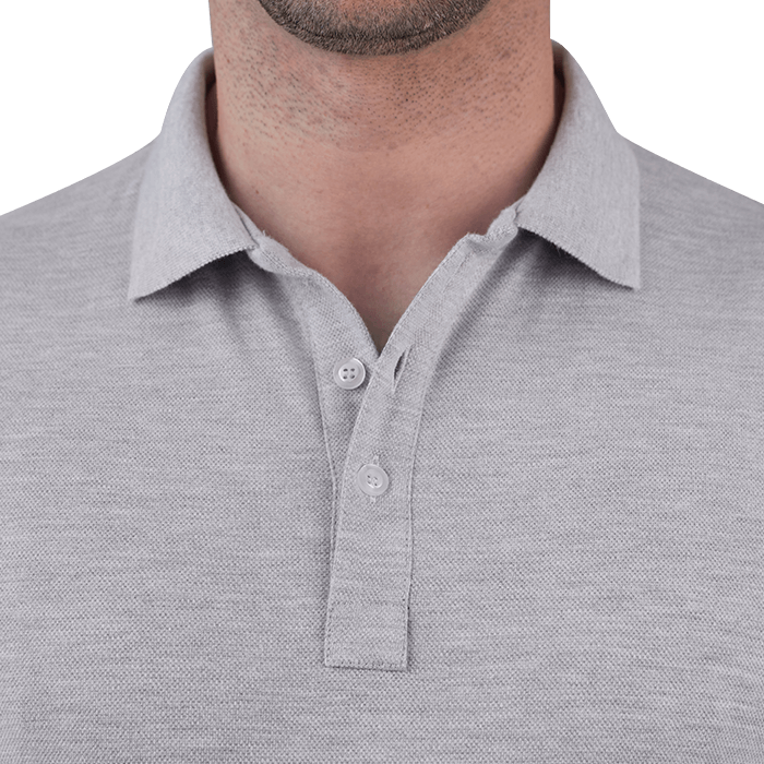 Szara męska koszulka polo