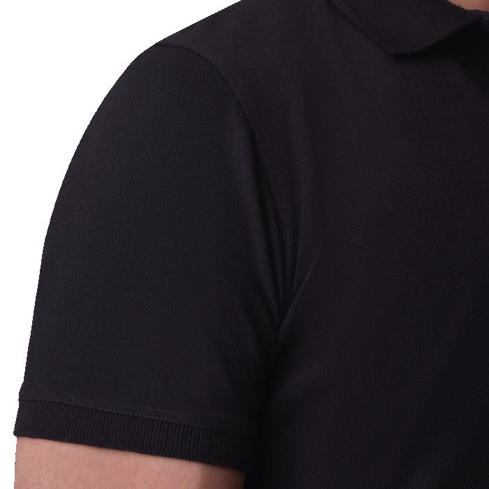 Czarna męska koszulka polo