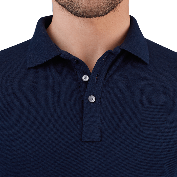 Granatowa męska koszulka polo