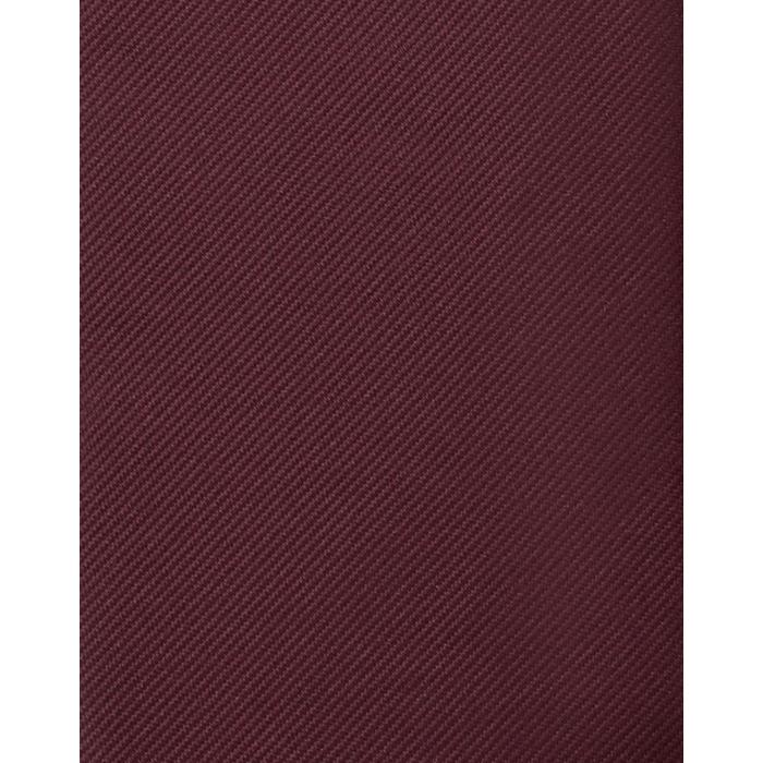 Bordowy gładki krawat jedwabny