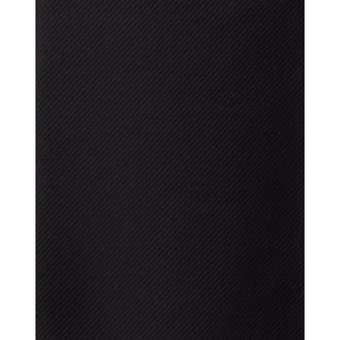 Czarny gładki krawat jedwabny