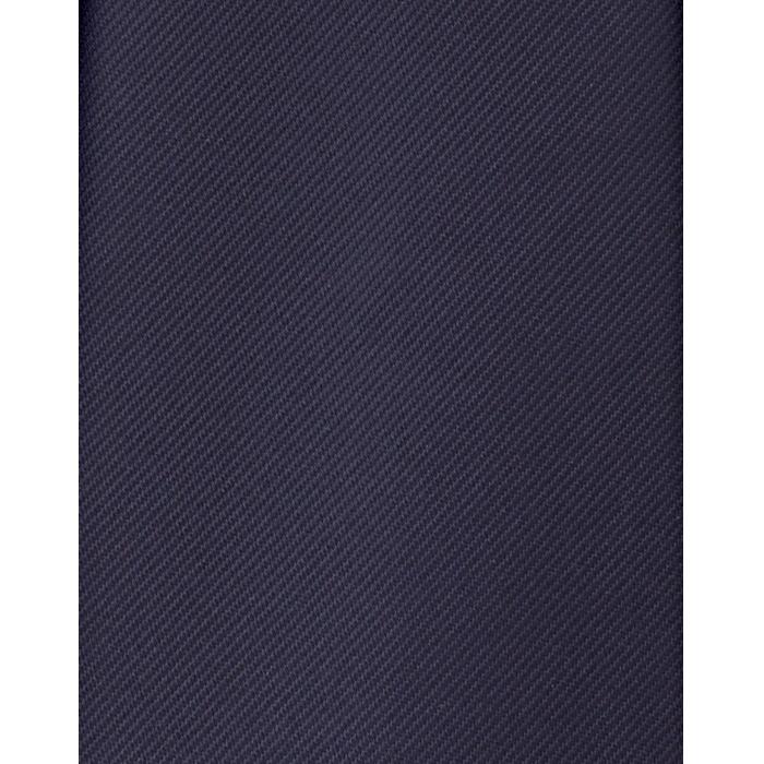 Granatowy gładki krawat jedwabny