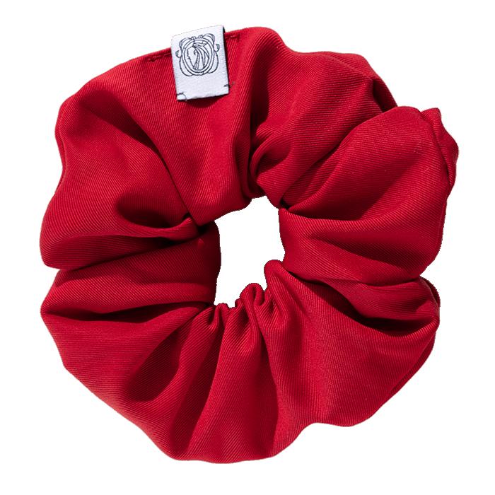 MeMadam: Scrunchie - czerwona wełniana gumka do włosów