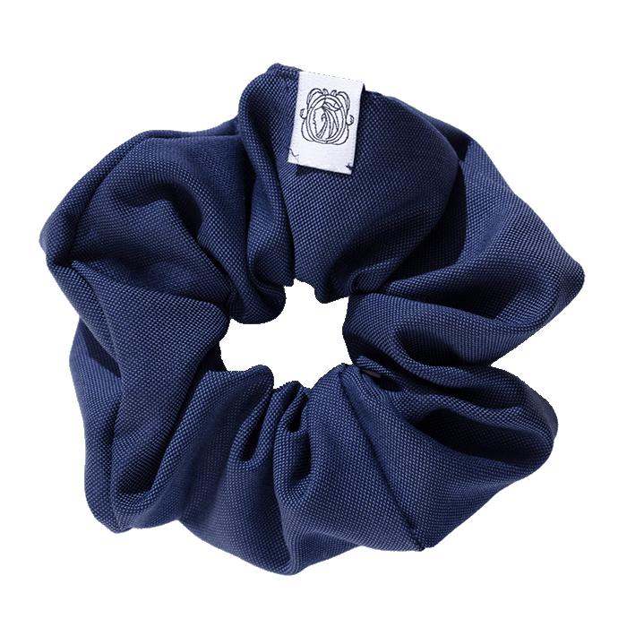 MeMadam: Scrunchie - niebieska wełniana gumka do włosów