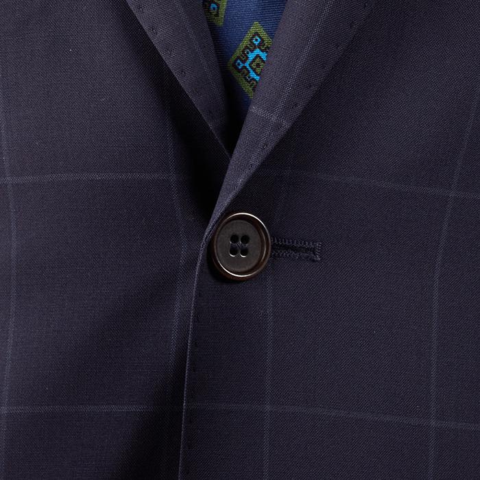 Granatowy garnitur Onyx w kratę windowpane