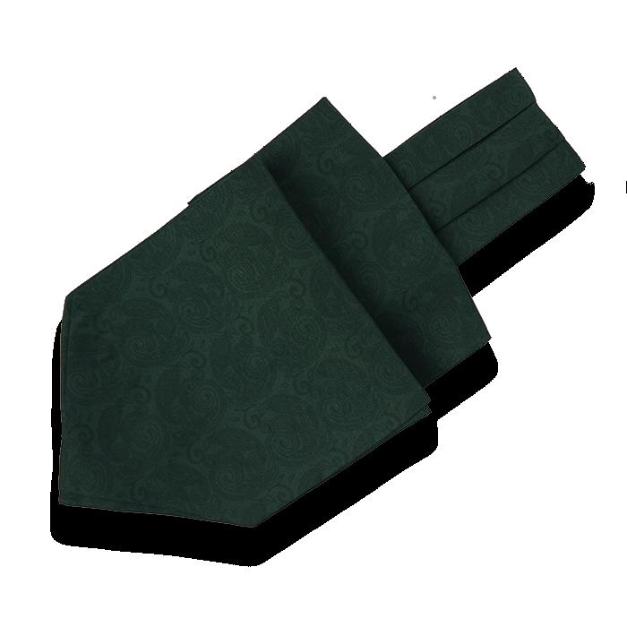 Zielony fular jedwabny męski w delikatny wzór