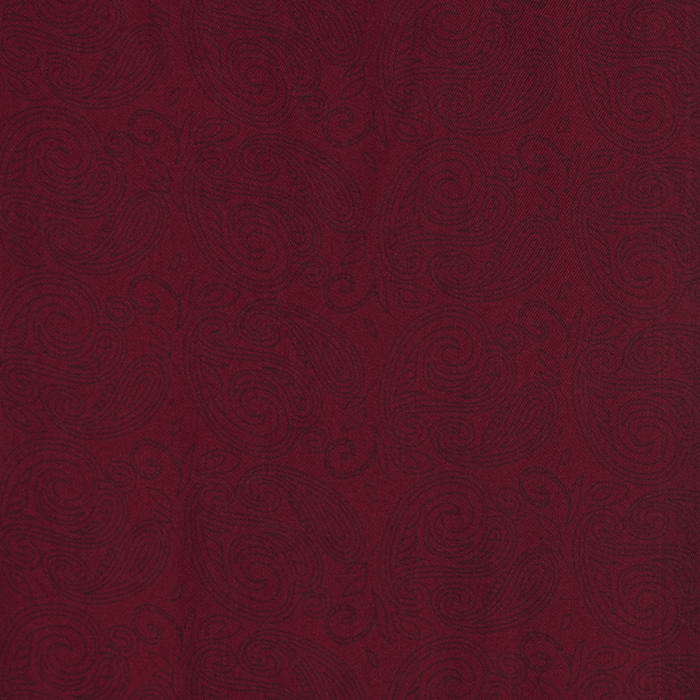 Bordowy fular jedwabny męski w delikatny wzór