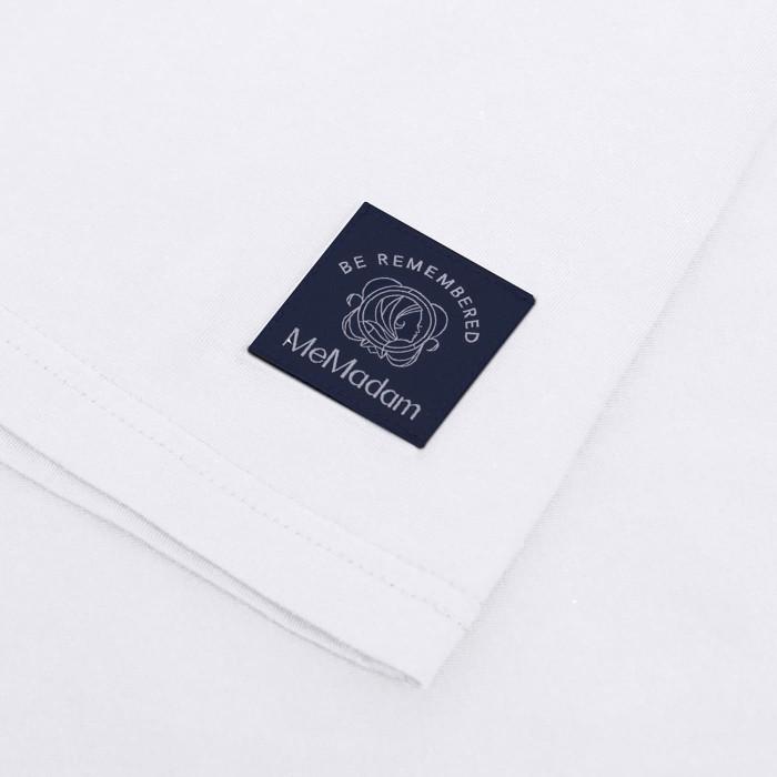 Biały t-shirt damski MeMadam