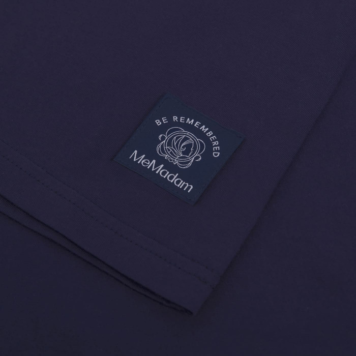 Granatowy t-shirt damski MeMadam