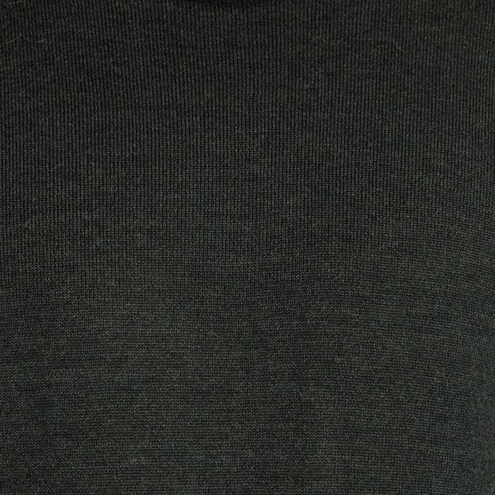 Golf ciemnozielony z wełny merynosowej