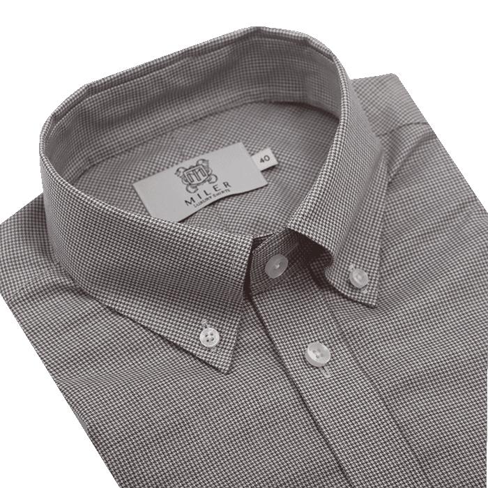 Szara koszula męska w pepitkę