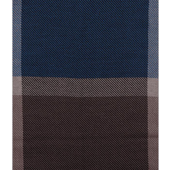 Brązowo-niebieski szal męski