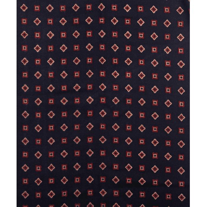 Granatowy szal męski w ornamenty