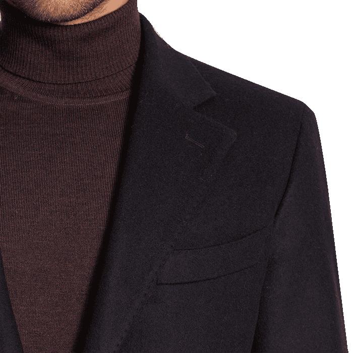 Granatowy płaszcz zimowy Charles