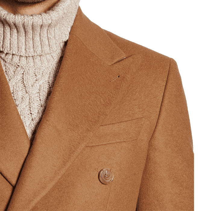 Beżowy płaszcz zimowy polo Edward