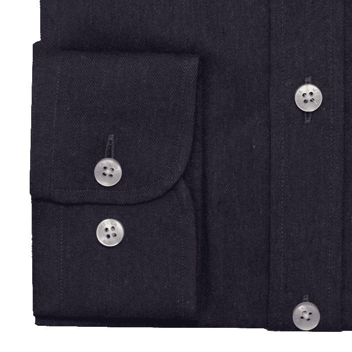 Granatowa flanelowa koszula męska button down
