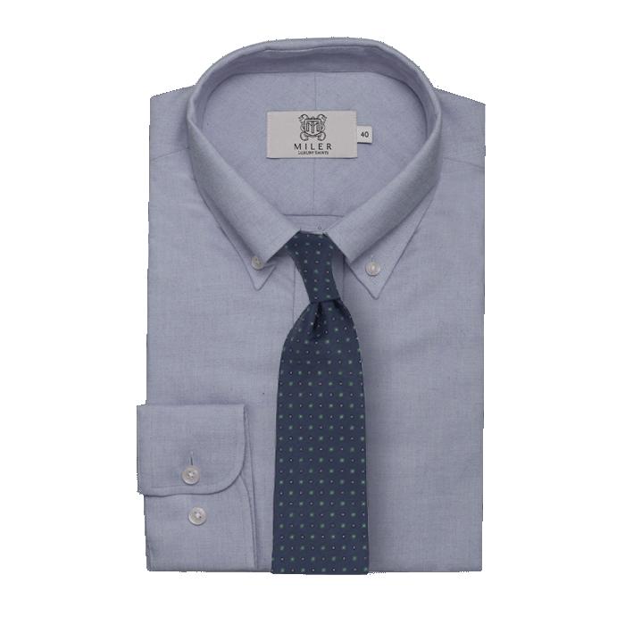 Błękitna flanelowa koszula męska button down