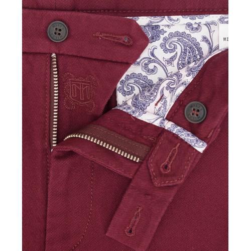 Spodnie chino Miler bordowe