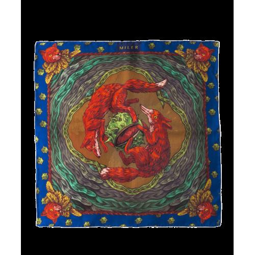 Zielono-ruda poszetka z lisem