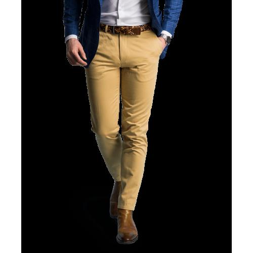 Spodnie chino beżowe
