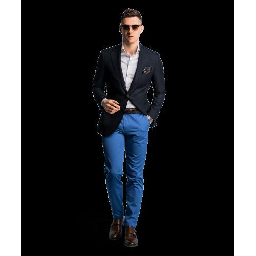 Spodnie chino błękitne