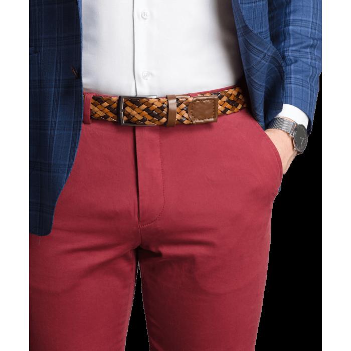 Spodnie chino czerwone