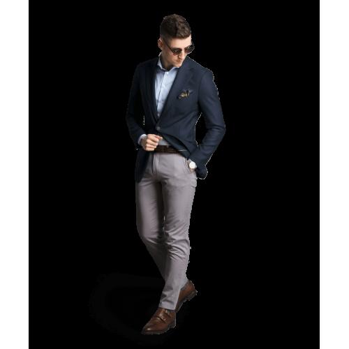 Spodnie chino szare