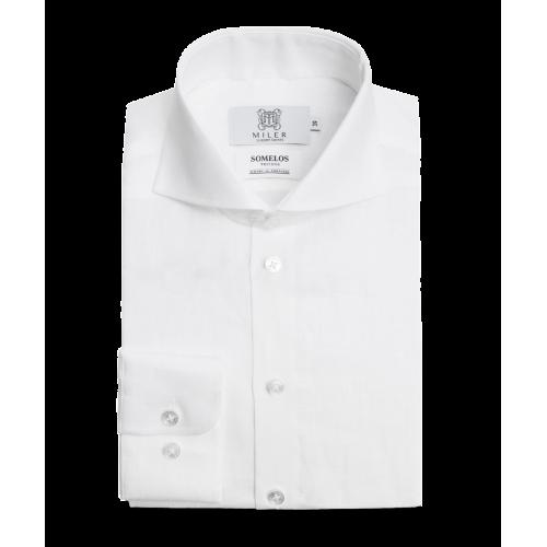 Męska koszula lniana - biała