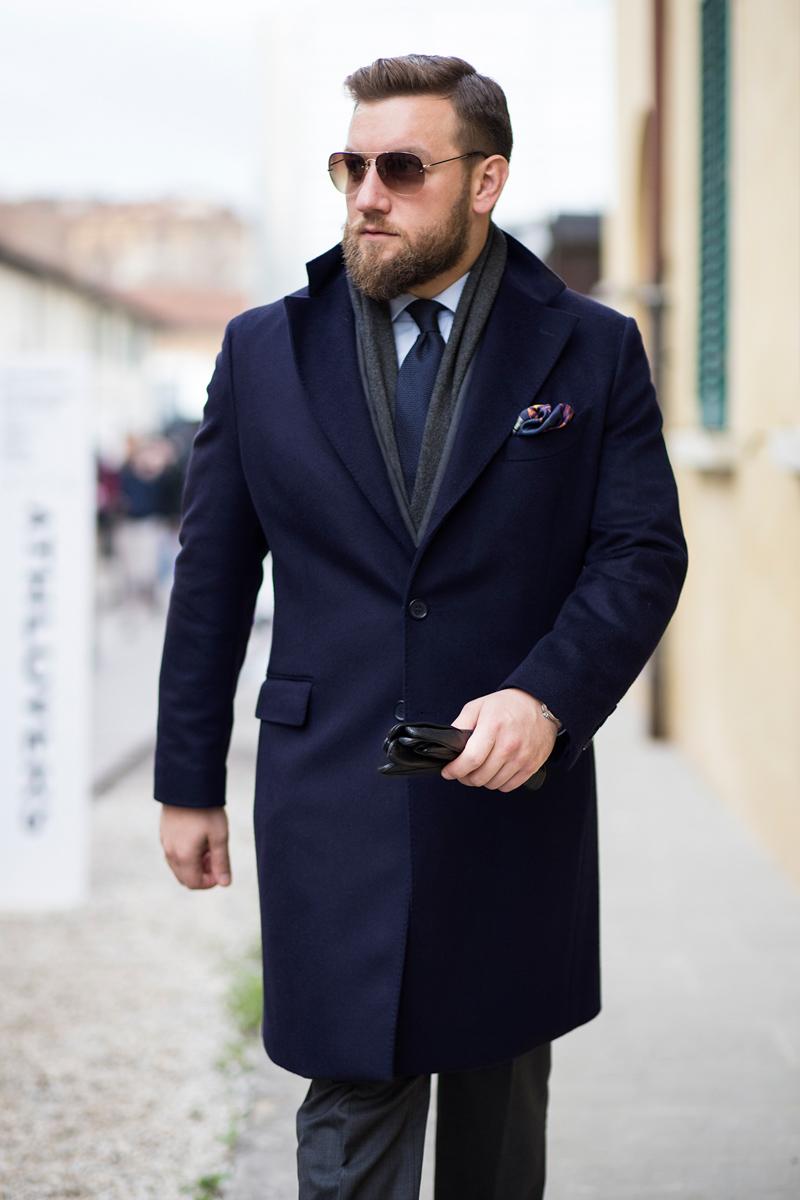 Granatowy płaszcz dyplomatka
