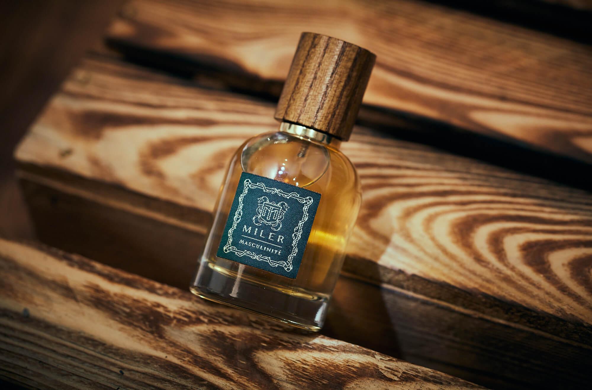 Żakardowa etykieta - perfumy męskie Miler Masculinite