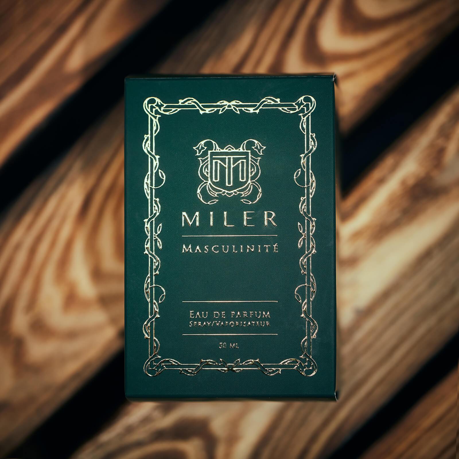 Perfumy męskie Miler Masculinite - ozdobne pudełko